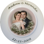 Personalised Photo Wedding or Anniversary Plate