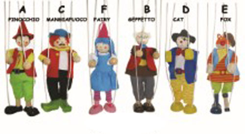 Pinocchio String puppet set with Pinocchio Story 6 Characters ~ Marionettes ~ puppetry ~ pretend play