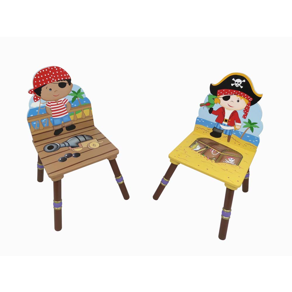 Pirate 2 Chair set (Red & Black Hat) by Teamson