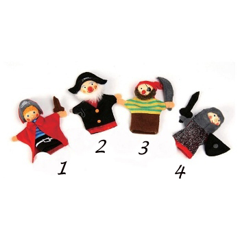Pirate finger puppets