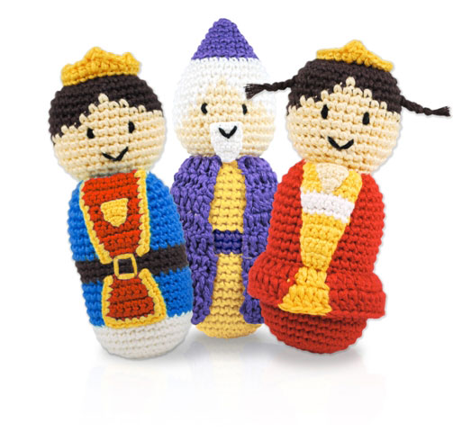Pretend Play - Royal rattles by Dandelion - Queen, King,Wizard