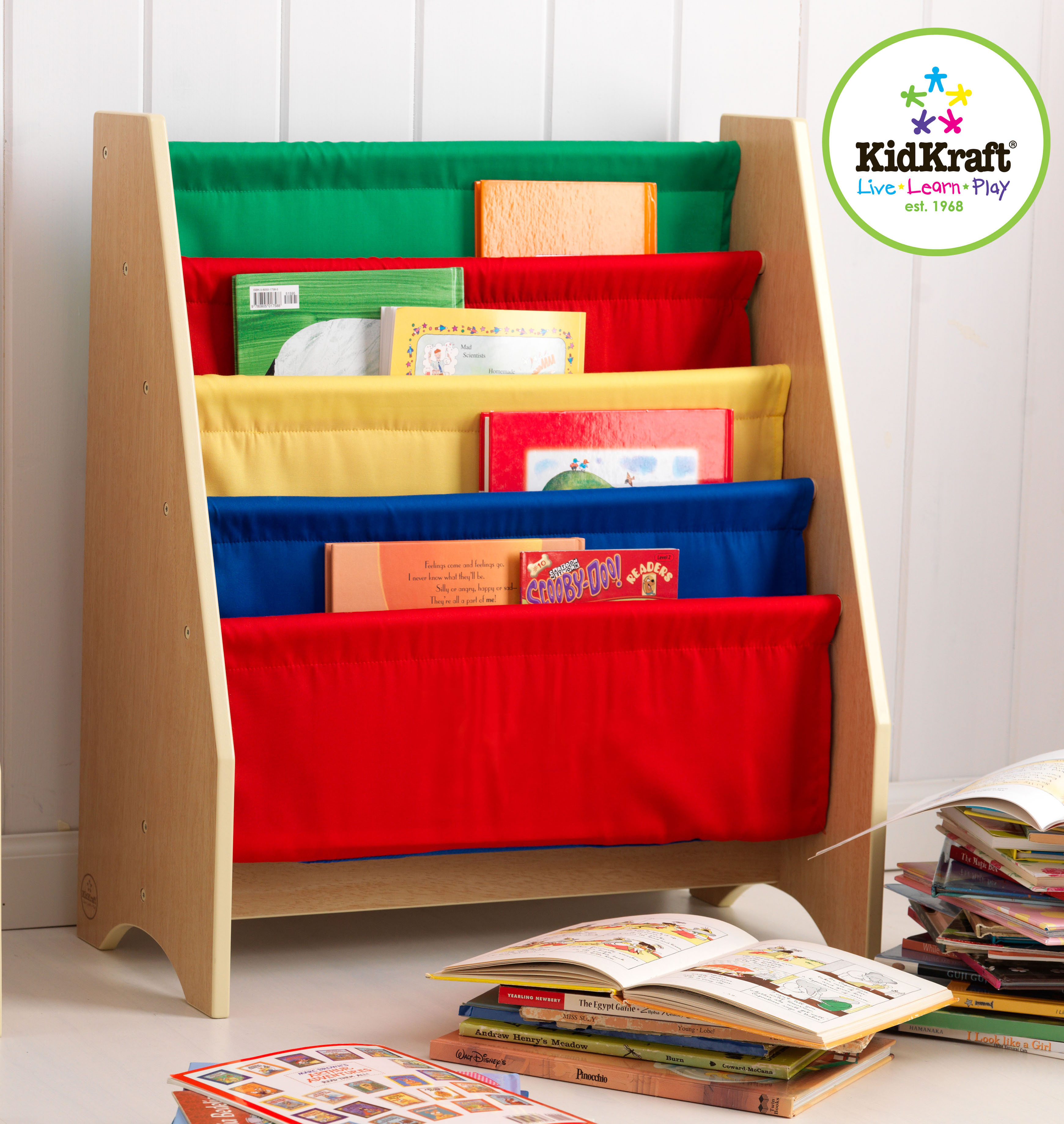 Sling book Shelf in Primary Colours by Kidkraft