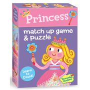 Match Up Game & Puzzle, Learn to count -- Princess