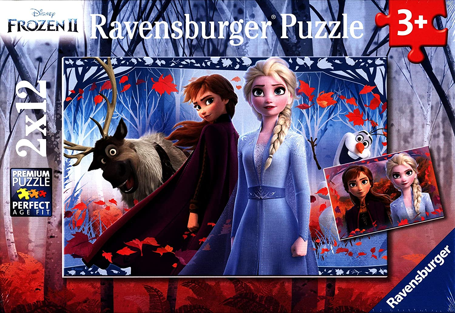 Ravensburger - Frozen 2 Journey to the Unknown Jigsaw Puzzle 2x12 pieces 3+