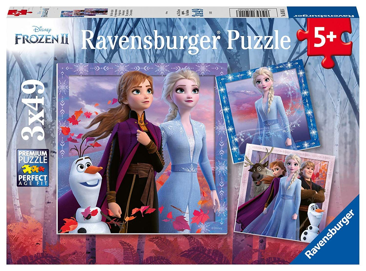 Ravensburger - Frozen 2 The Journey Starts Jigsaw puzzle 3x49 pieces 5 +