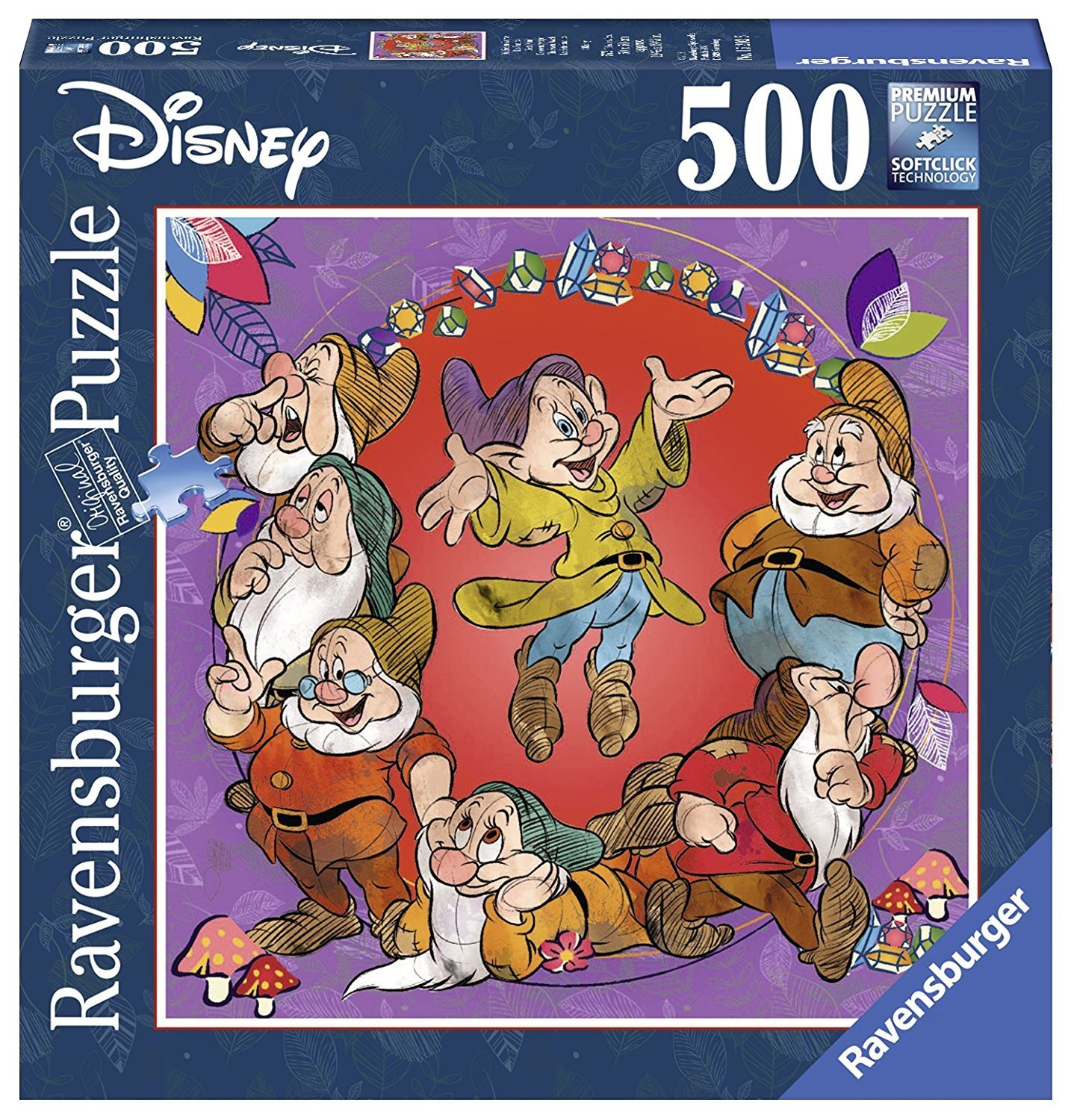 Ravensburger - Disney The Seven Dwarfs Square Puzzle 500pc
