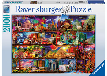 Ravensburger - World Of Books by Aimee Stewart 2000pc Jigsaw Puzzle