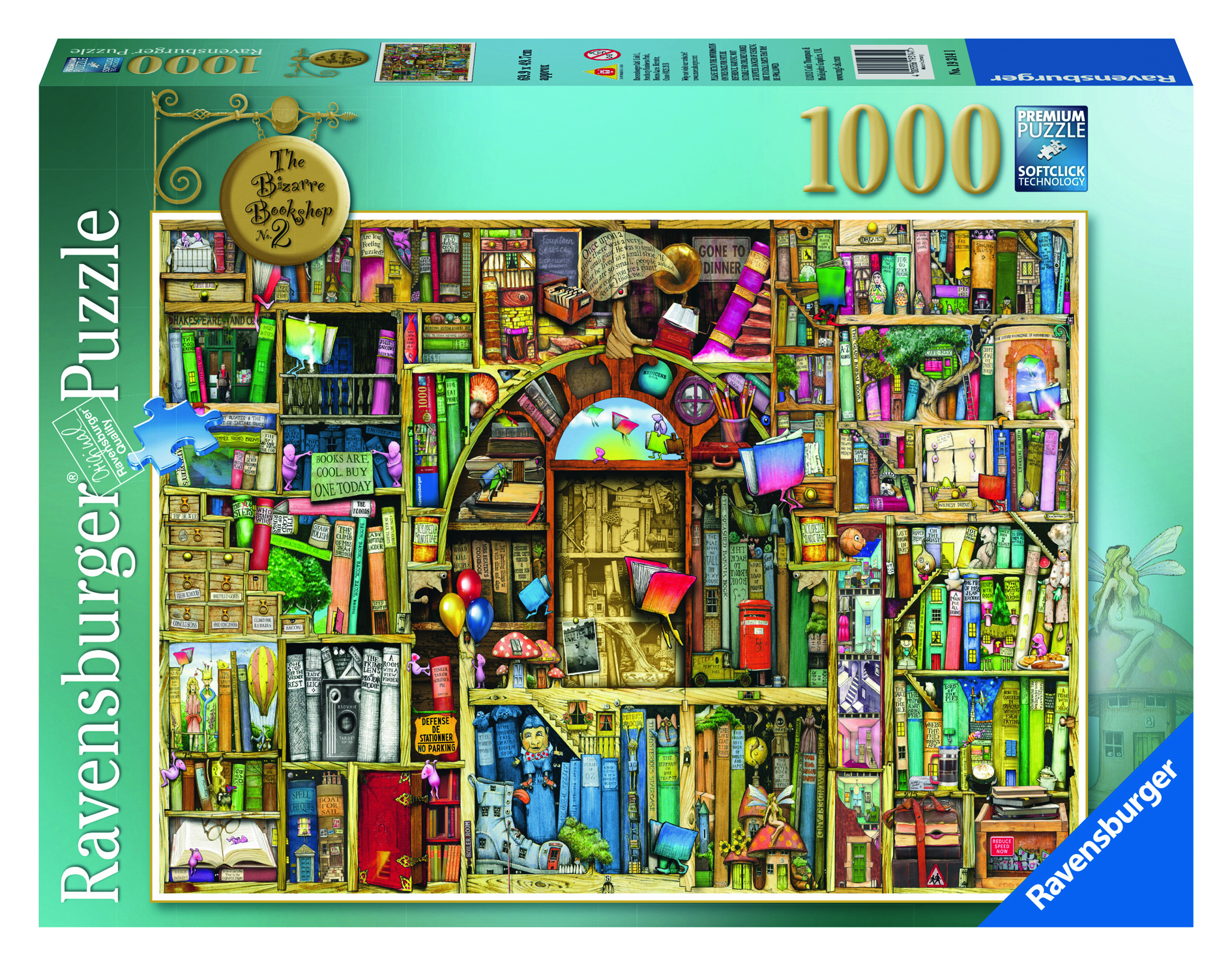 Ravensburger Colin Thompson - The Bizarre Bookshop No.2 Puzzle 1000pc
