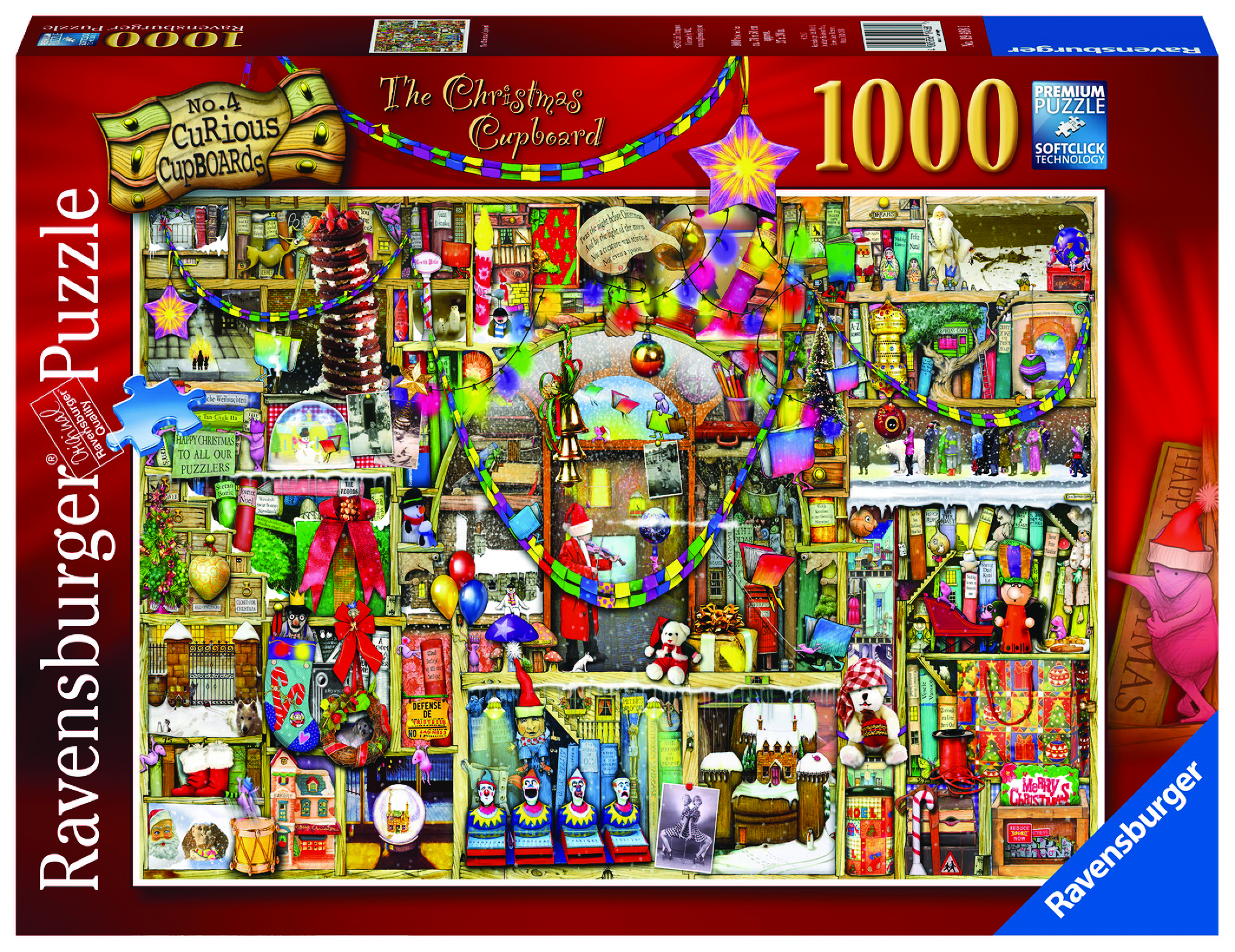 Ravensburger Colin Thompson - The Christmas Cupboard Jigsaw Puzzle 1000pc