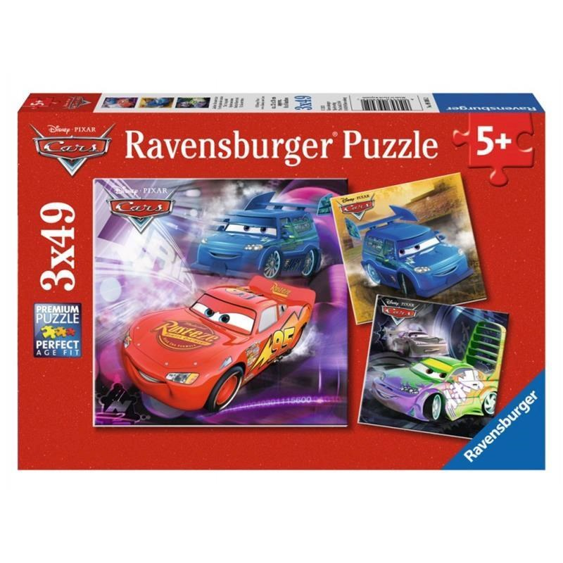 Ravensburger Disney On the Race Track Puzzle 3 x 49 pc 5+