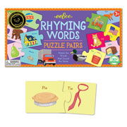 Rhyming Words Puzzle Pairs by eeboo