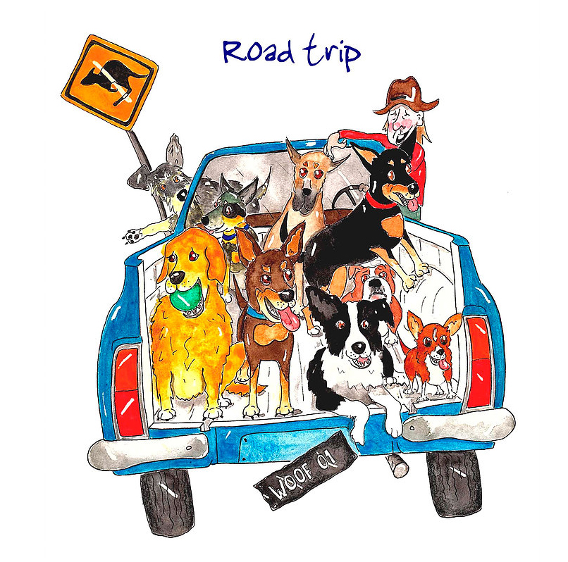Australian Greeting Card ~ Road Trip
