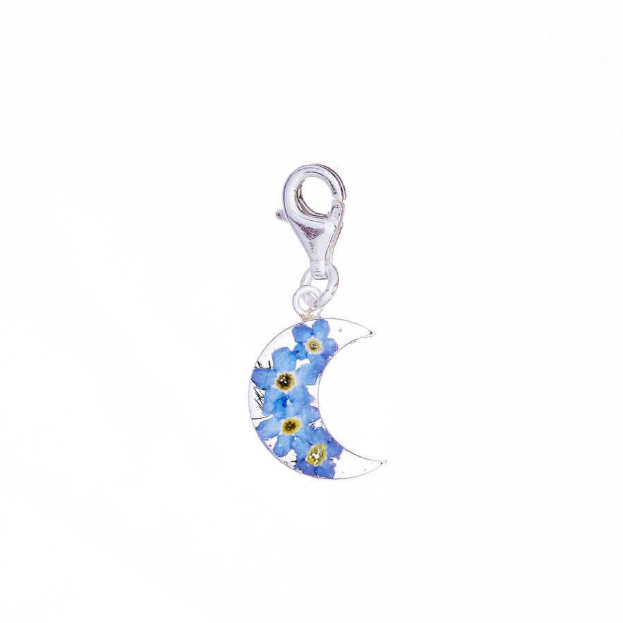 San Marco Blue Moon Mexican Flowers Charm with Clasp