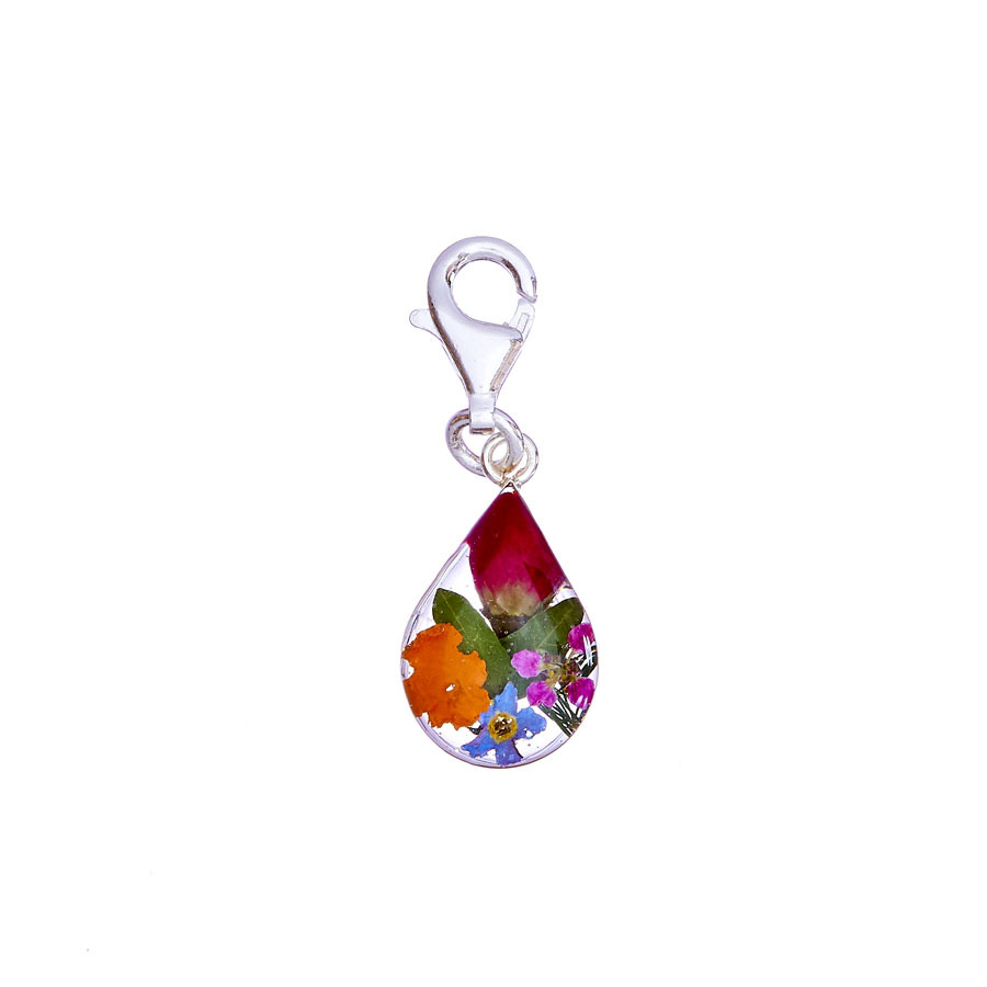 San Marco Garden Mexican Flowers Drop Charm with Clasp