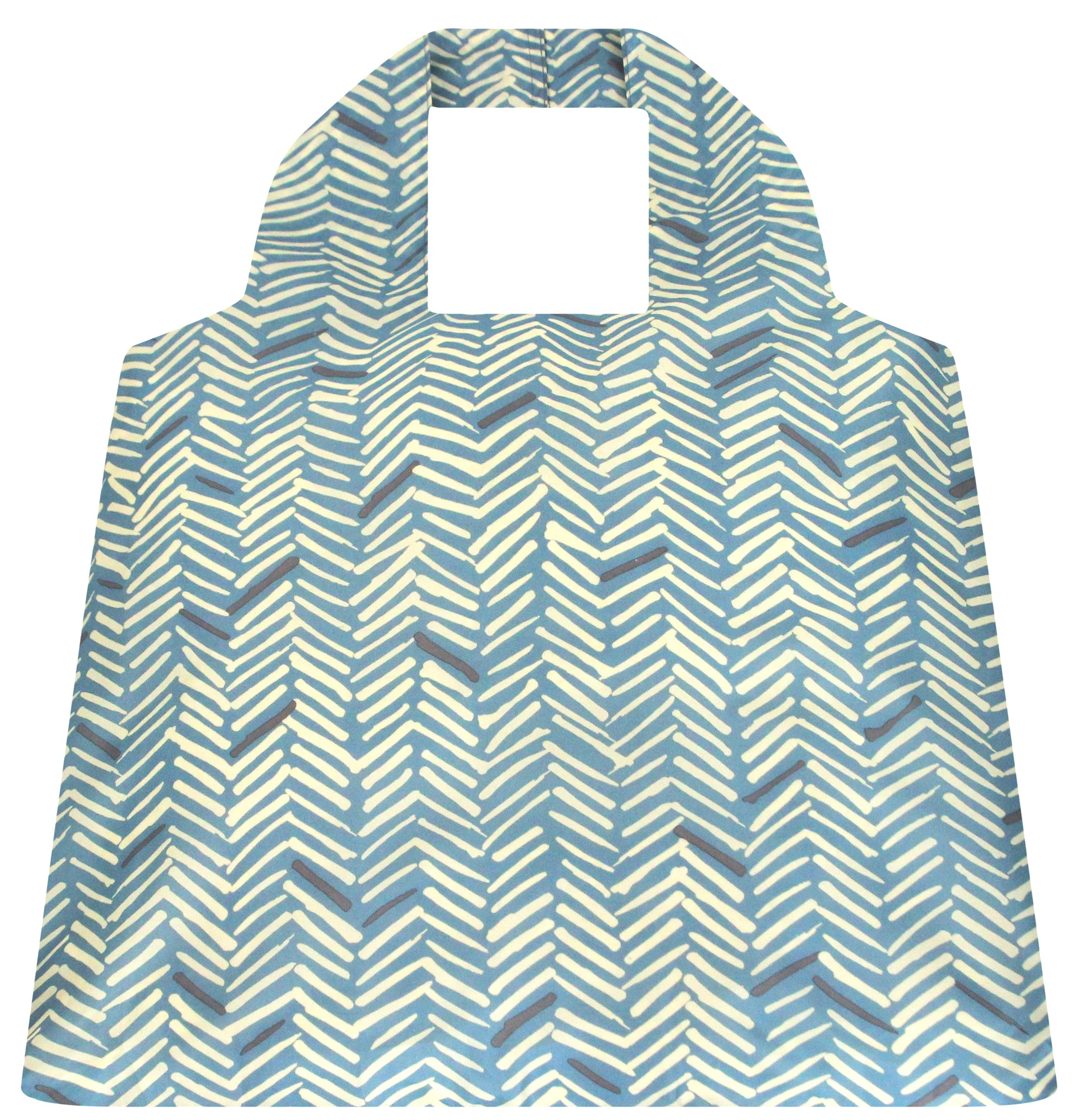 SAKitToMe ~ Herringbone Blue Design ~ Compact Bag by Envirotrend