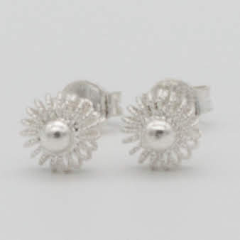 Filigree Sterling Silver XSS Sunflower (Girasolito)Stud Earrings by Gaviota