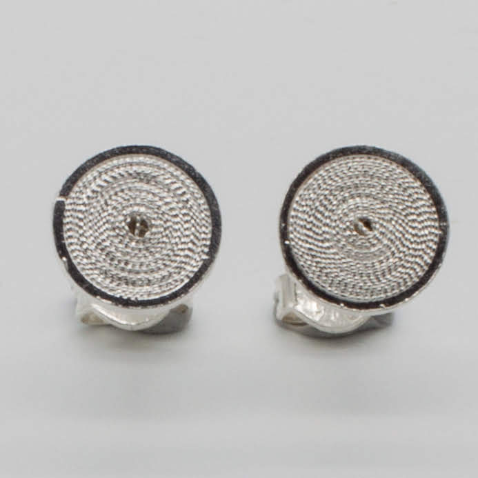 Filigree Sterling Silver XS Jodie Circle (Circulo) Stud Earrings by Gaviota