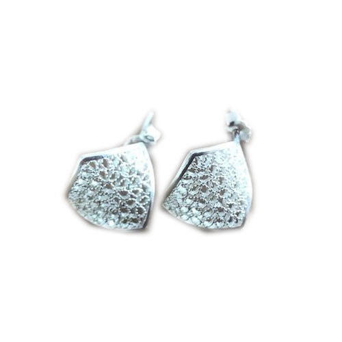 Filigree Sterling Silver Concave (Concavo) Stud Earrings by Gaviota
