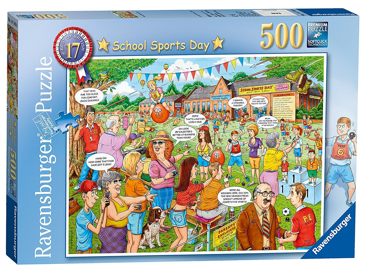 500pc Geoff Tristram ~ Best of British No.17 ~ School Sports Day Puzzle By Ravensburger