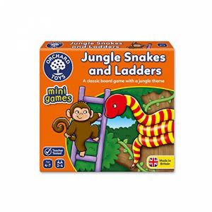 Jungle Snakes & Ladders ~ Mini Game by Orchard Toys