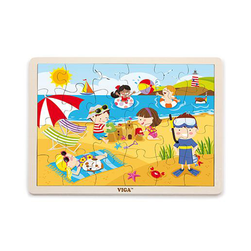 Summer wooden puzzle x Viga Toys 2+