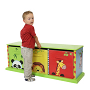 Sunny Safari 3 Bag Storage Cabinet by Fantasy Fields Teamson