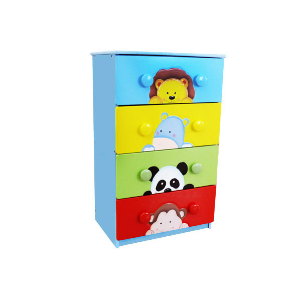 Sunny Safari 4 Drawer 8 handle Chest by Fantasy Fields Teamson