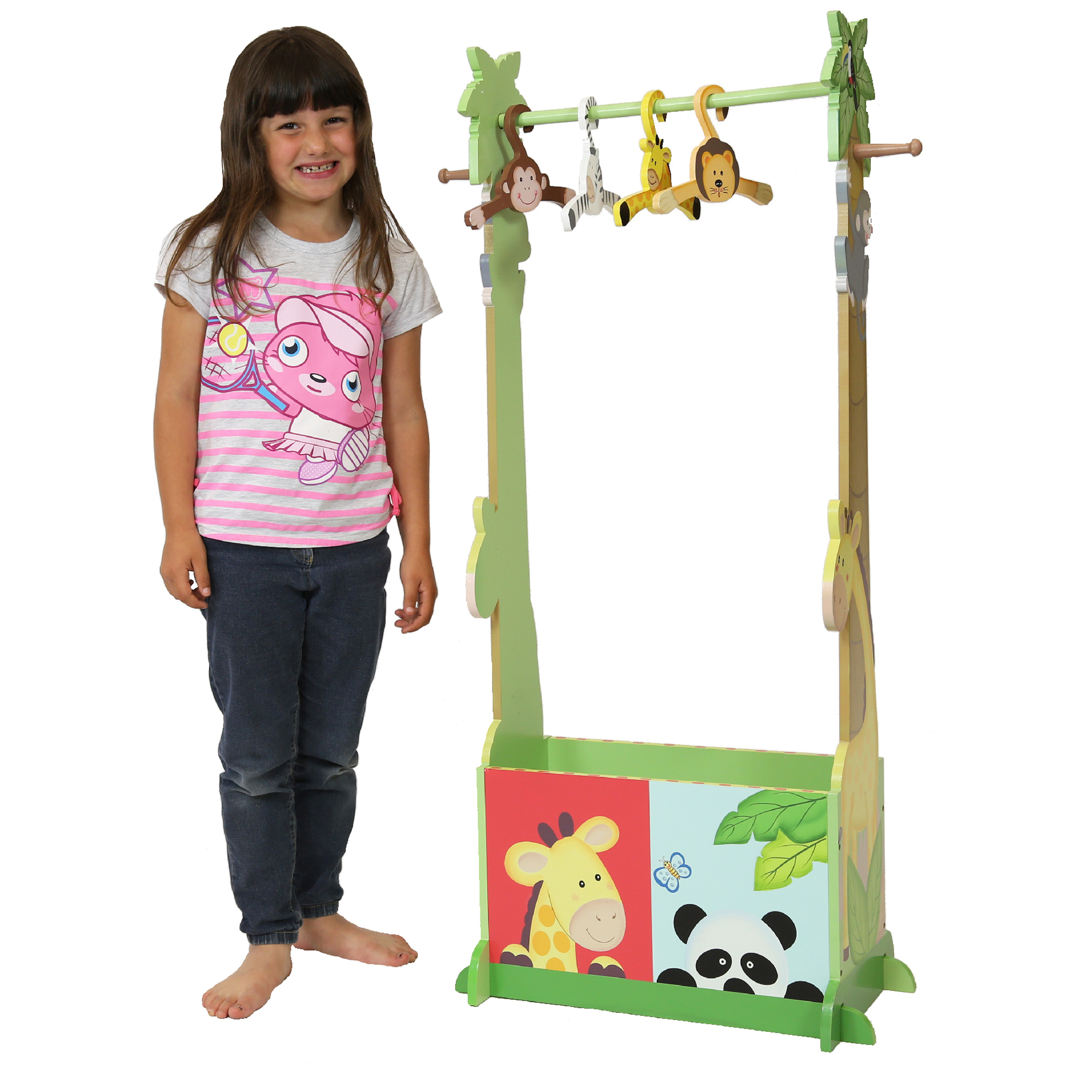 Sunny Safari Clothing Rack with 4 hangers by Fantasy Fields Teamson