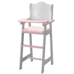Olivia's little world ~ Polka Dot Princess 45cm Doll Furniture ~ Baby High Chair 3+