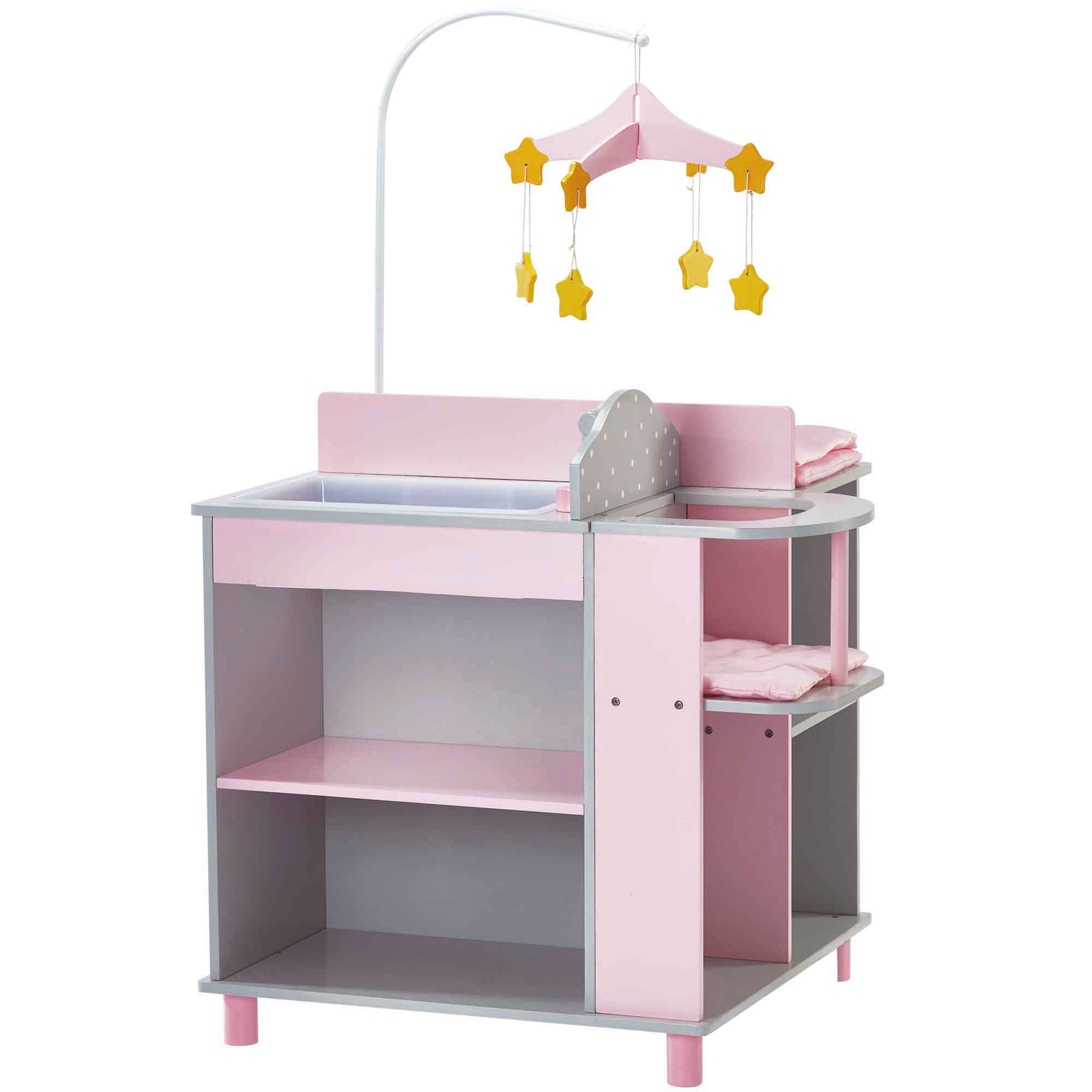Olivia's little world ~ Polka Dot Princess 45cm Doll Furniture ~ Baby changing station with storage 3+