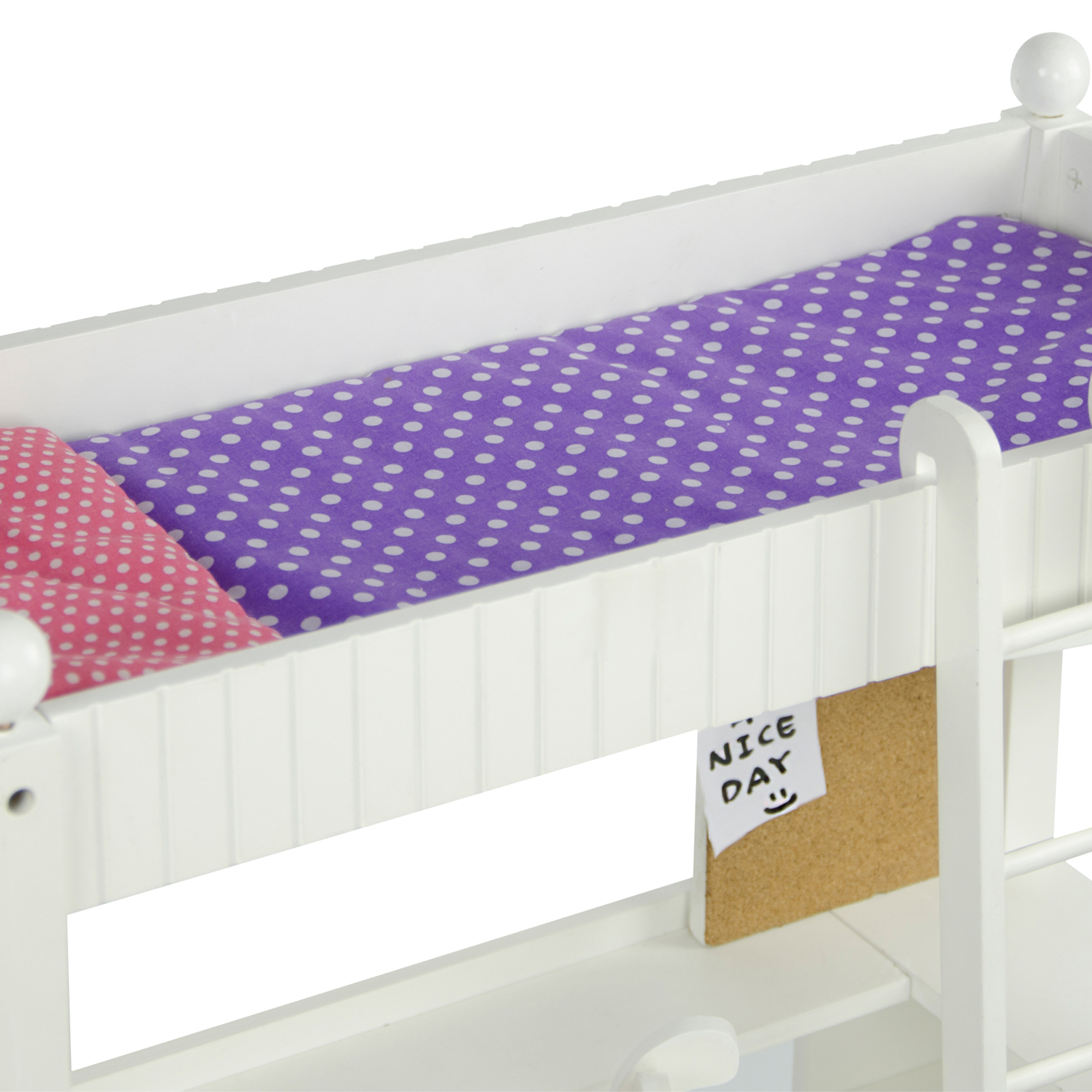 Olivia's little world ~ Little Princess 45cm Doll Furniture ~ College Dorm Double Bunk Desk 3+