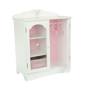 Olivia's little world ~ Little Princess 45cm Doll Furniture ~ Fancy Closet with 3 hangers 3+