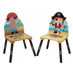 Pirate 2 chair set (Black & Red Hat) by Fantasy Fields Teamson