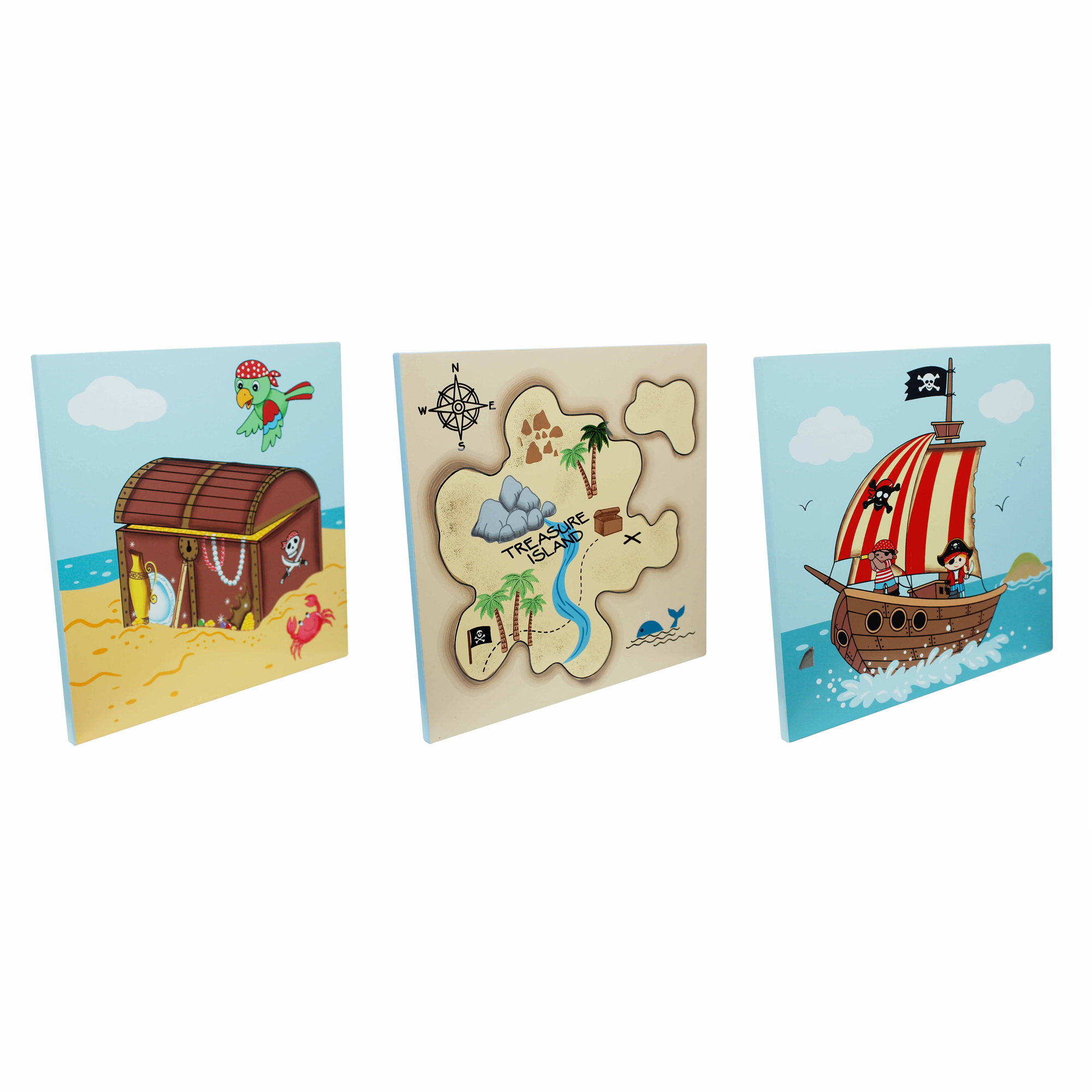 Pirate Wall Art set x 3 ~ by Fantasy Fields ~ Teamson