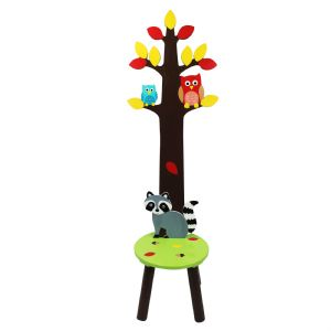 Enchanted Woodlands Coat Rack Stool ~ Fantasy Fields ~ Teamson