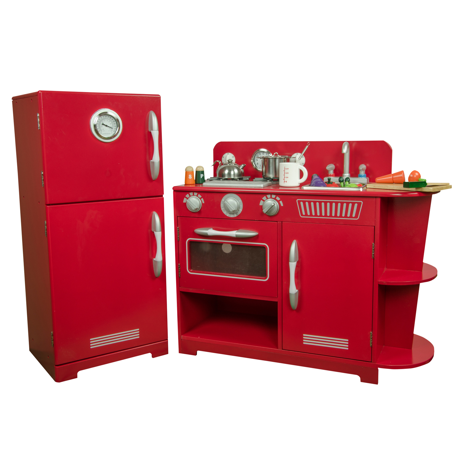 Teamson Kids - Red Play Kitchen (2 Piece)