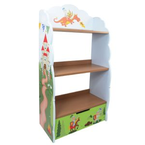 Knights & Dragon Bookshelf,Bookcase by Fantasy Fields ~ Teamson