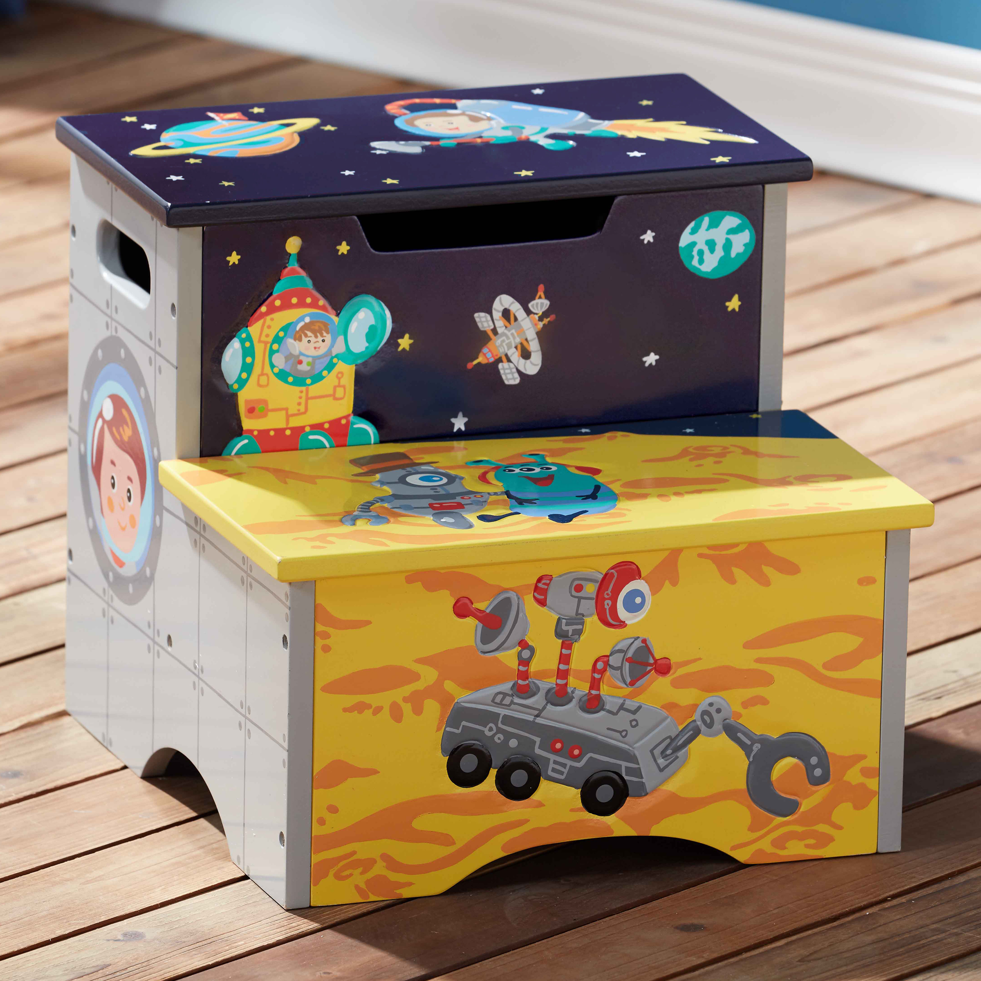 Outer Space Step Stool ~ Fantasy Fields ~ Teamson