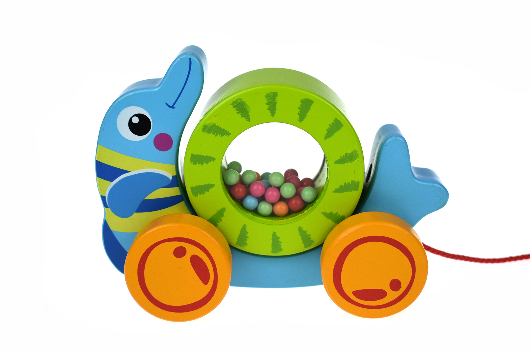 Pull Along - Rolling Dolphin by Tooky Toy 12mths+