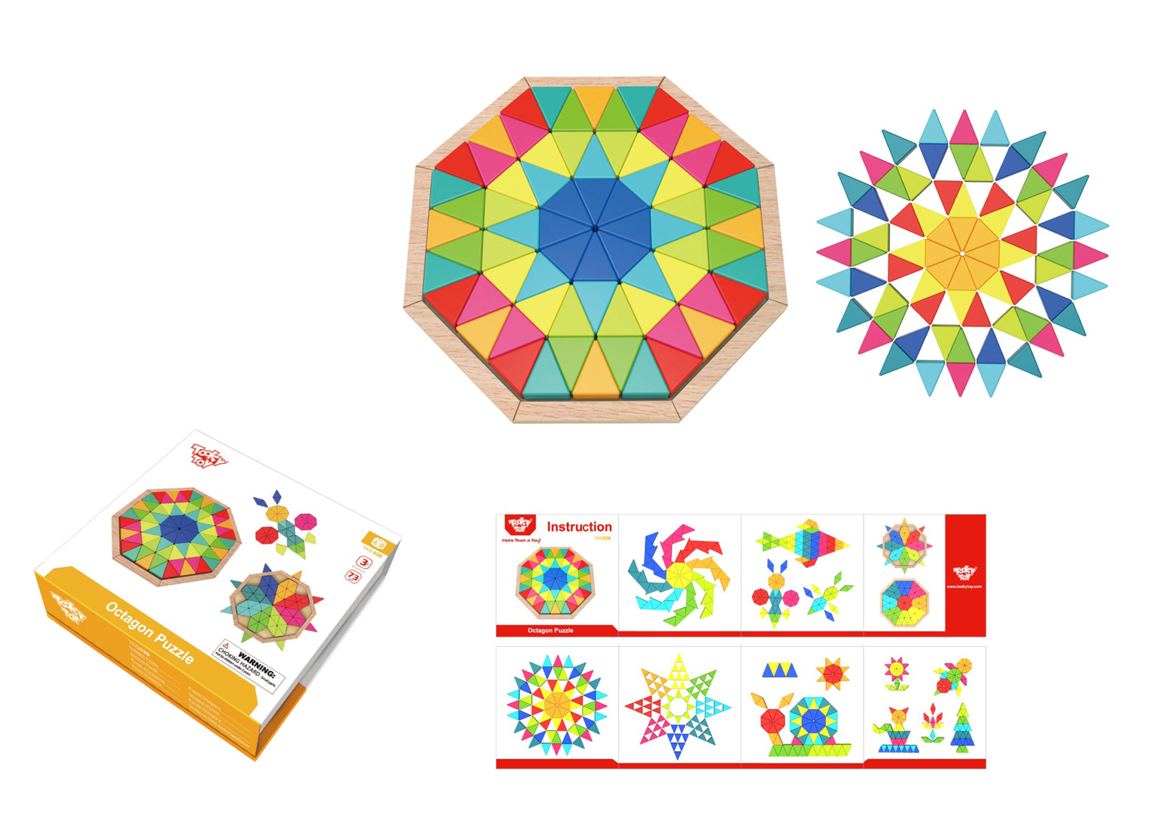 Octagon Puzzle by Tooky Toys 3+