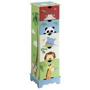 Sunny Safari 5 Drawer Cabinet by Teamson - Fantasy Fields