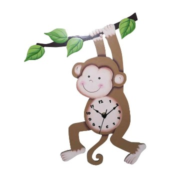 Sunny Safari Monkey Wall Clock by Teamson - Fantasy Fields