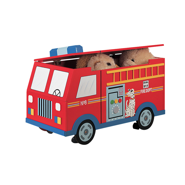 Transportation Kids Fire Engine Trunk by Fantasy Fields - Toy Box - Toy Chest