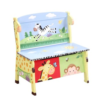 Sunny Safari Storage Bench by Teamson - Fantasy Fields