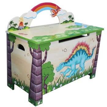 Dinosaur Toy Chest by Fantasy Fields Teamson - Toy box