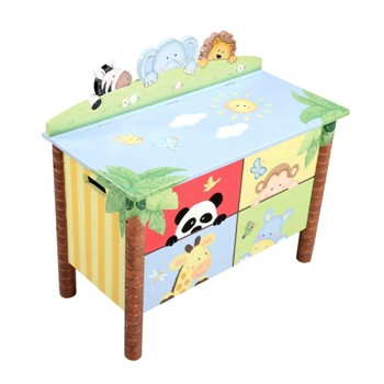 """FACTORY SECONDS"" ~ Sunny Safari Toy Chest by Teamson - Fantasy Fields - Toy Box"