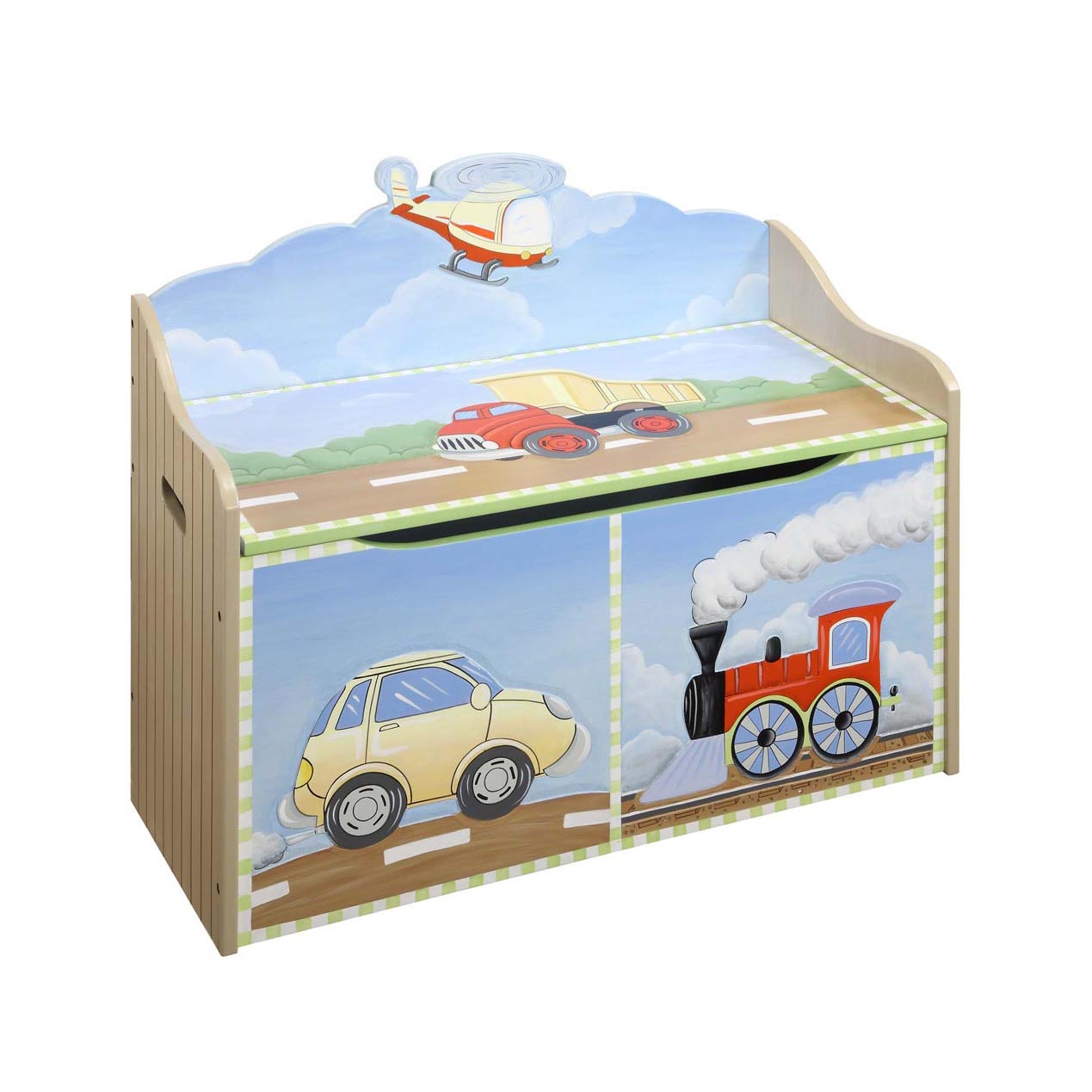 Transportation Toy Chest by Teamson - Toy Box