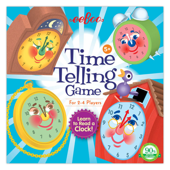 Telling Time Game by eeBoo ~ Clock game
