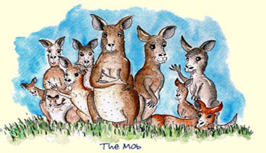 Australian Greeting Card ~ The Mob