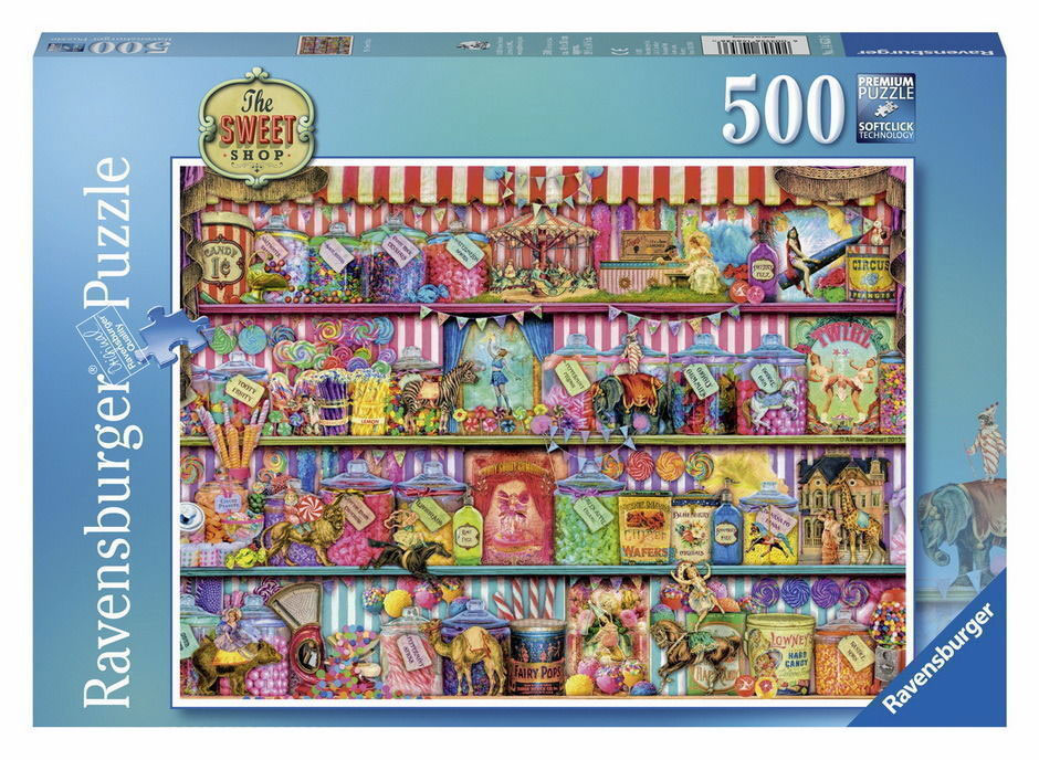 500pc Aimee Stewart ~ The Sweet Shop Jigsaw Puzzle by Ravensburger